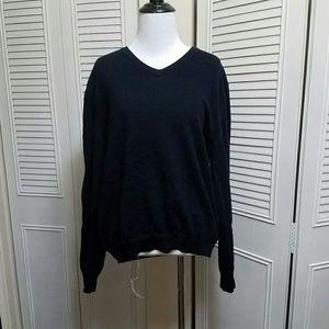 L Black Brooks Brothers Merino Wool Sweater